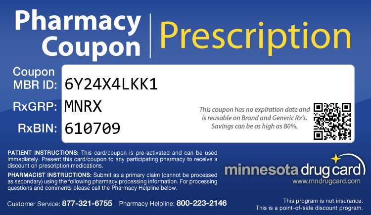 Minnesota Drug Card - Free Prescription Drug Coupon Card